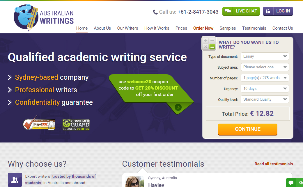 Essay service review